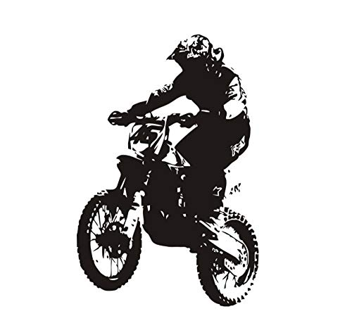 Wandaufkleber Wohnzimmer Wandaufkleber Schlafzimmer Wandaufkleber Diy Abnehmbare Kreative Cool Rider Motorrad Muster Dekoration Lieferungen Tapete