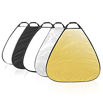Rishil World 5 in 1 Selens 5 Color 80cm 31.5 inch 80cm Triangle Portable Reflector Collapsible