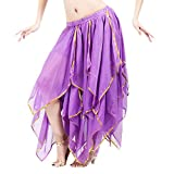 OverDose Damen Frauen Tüllrock Petticoat Tutu Unterrock Kurzes Ballettkleid Ballkleid Prom Pailletten Side Split Kleid Gelegenheit Zubehör