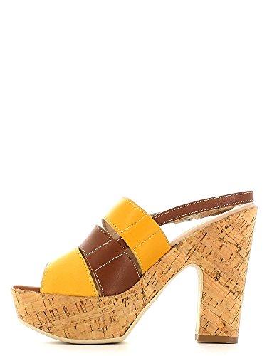 KEYS 5127 Sandalo tacco Donna Ocra/cuoio