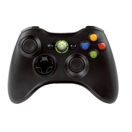 Microsoft - Mando Inalámbrico Xbox 360, Color Negro (Windows - PC)