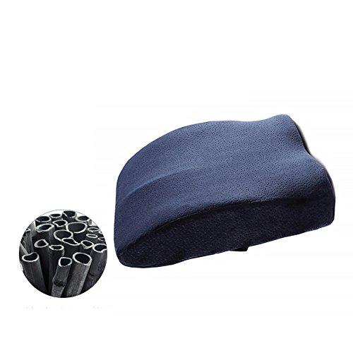 Asiento elevador amortiguador memoria espuma cojín lujo coxis ortopédico asiento ergonómico asiento para el coche mejor para el hogar oficina y coche hemorroides 41.5 * 40 * 10 cm azul océano-B