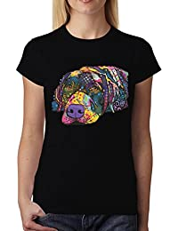 Dean Russo Labrador Perro Animales Mujer Camiseta XS-2XL d5d7151e944d9