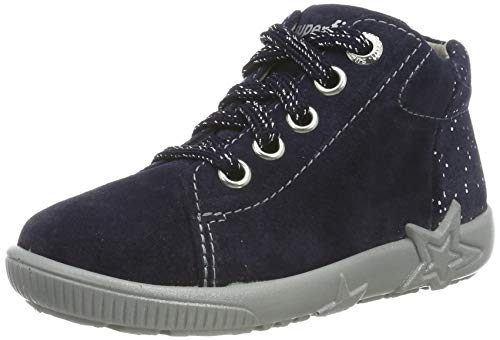 Superfit Baby Mädchen Starlight Sneaker, Blau (Blau 80), 25 EU
