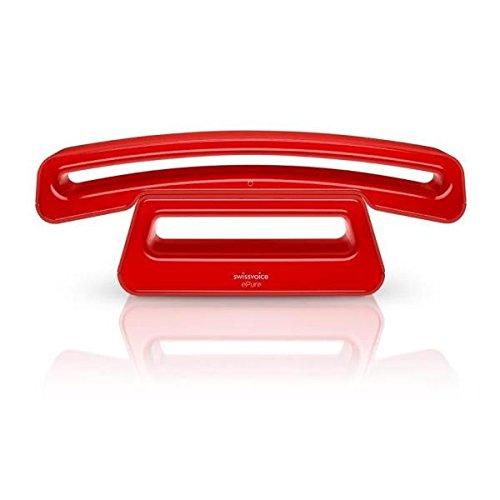 Alcatel Epure 2 Swisscom - Teléfono inalámbrico, Color Rojo