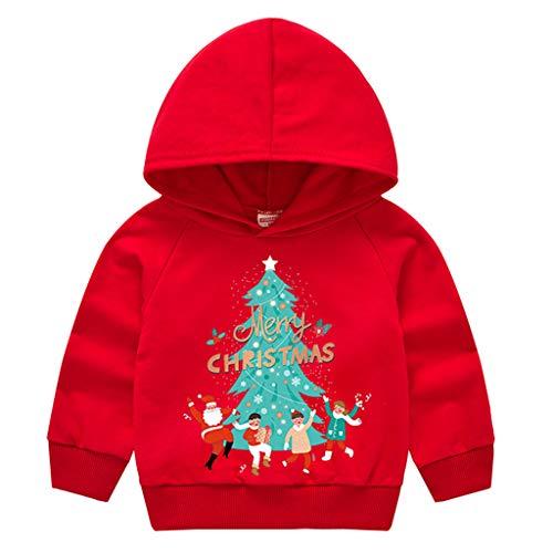 LEXUPE Baby Weihnachten Kleidung Neugeborene Mädchen Jungen Strampler Jumpsuit(C-Rot,110)