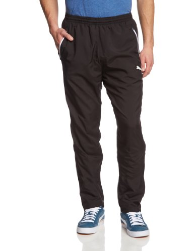 Puma Herren Hose Leisure Pants Black-White, L -