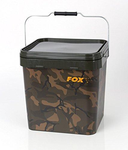 Fox Camo Square Carp Bucket Eimer, Volumen:17 Liter - 25x28x30cm