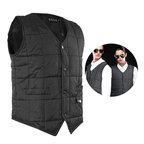 Cappotto senza maniche, riscaldamento elettrico veloce, intelligente, caldo invernale, blu scuro, giacca riscaldante resistente all'usura, 3 livelli di temperatura/lavabile