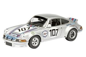 Schuco Dickie 450371200 - Maqueta de Porsche 911 2.8 RSR 107 (Escala 1:43), Color Plateado