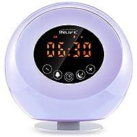 InLife Despertador Luz Natura,Wake Up Light Multi-Funcional con Sonidos Naturales Radio FM