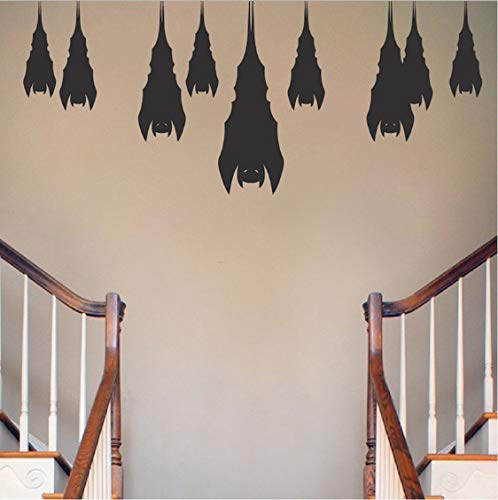TOYP Schlafen Fledermäuse Halloween Wall Decal Wall Stickers 9pcs von 20-40cm