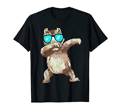 Betupfen der amerikanischen Rotation-Katze mit lustigem T-Shirt -