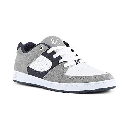 ES Herren Accel Slim Skate-Schuh, Grau - Grey/White/Navy - Größe: 46 EU (M) - Grau Wildleder Skate Schuh