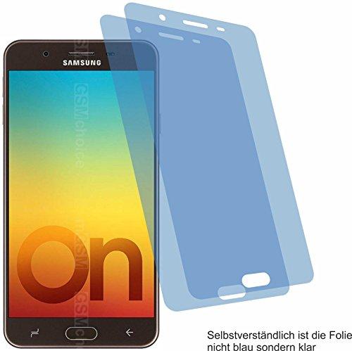 4ProTec 2X Crystal Clear klar Schutzfolie für Samsung Galaxy On7 Prime Bildschirmschutzfolie Displayschutzfolie Schutzhülle Bildschirmschutz Bildschirmfolie Folie