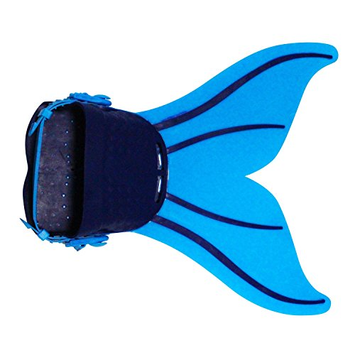 Le SSara Mädchen Meerjungfrau Cosplay Kostüm Bademode Meerjungfrau Shell Badeanzug Sets (Einheitsgröße, Z6 blau + schwarz) (Masquerade Kleid Schwarz Mit Blau)