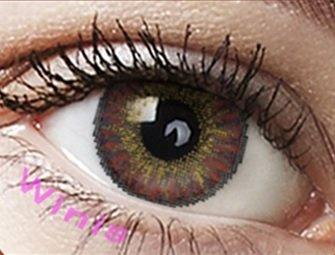 """Farbige Kontaktlinsen Monatslinsen braun schokobraun """"Chocolate"""" ohne Stärke mit Aufbewahrungsbehälter"""