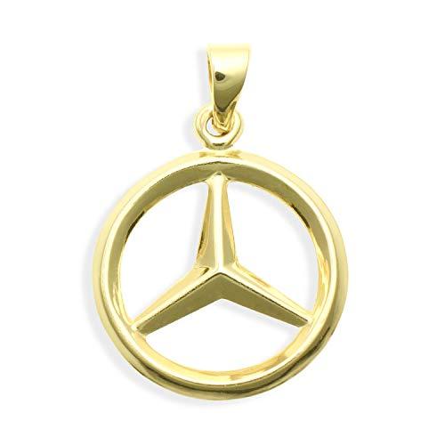 Kettenanhänger mit DEM Stern aus echt 14 Karat Gold 585 16mm (Art.209005)
