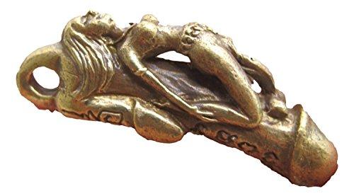 Latón Naked Lady pene fálica Falo Amuleto Paludkik Talismán
