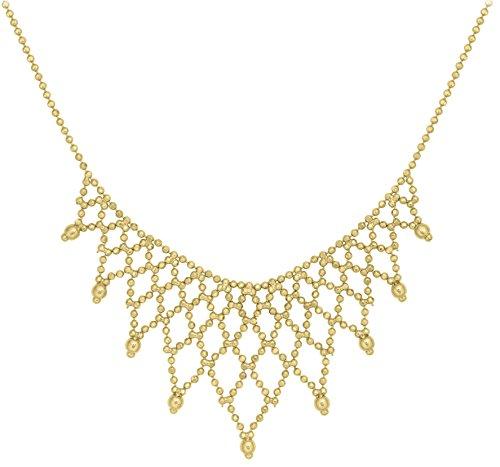 Carissima Gold Damen-Kugelkette 9ct Mini Ball Fringe Necklace 375 Gelbgold 43 cm - 1.11.9300 (Ball Fringe)