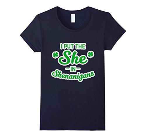 womens-i-put-the-she-in-shenanigans-irish-pride-tee-shirt-for-women-medium-navy