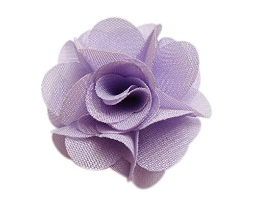 YYCRAFT Chiffon-Blumen-Haarblume für Babys, Mädchen, Blumen-Haarband, Schleifen, Basteln, Party-Dekoration, 30 Stück, lavendel, 2
