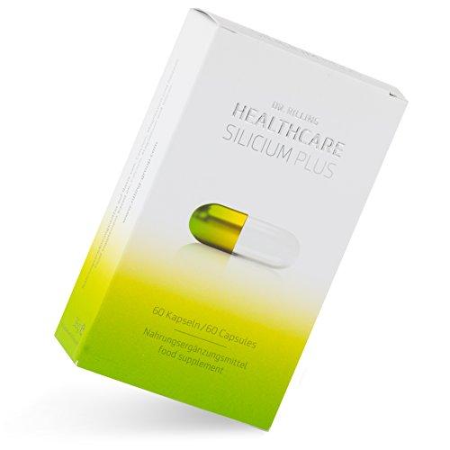 Silizium Nahrungsergänzung I Silicium Kapseln I 60 Kapseln I Vegane & Aluminiumfreie Nahrungsergänzung mit Calcium & Magnesium I Dr. Rilling Healthcare Silicium Plus
