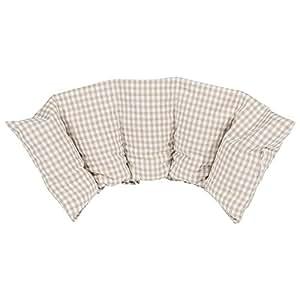 Cuscino flessibile con noccioli di ciliegia 50x20 cm - Prodotto in Germania - Imbottitura: 800 grammi di noccioli di ciliegia; rivestimento: 100% cotone (beige grande)
