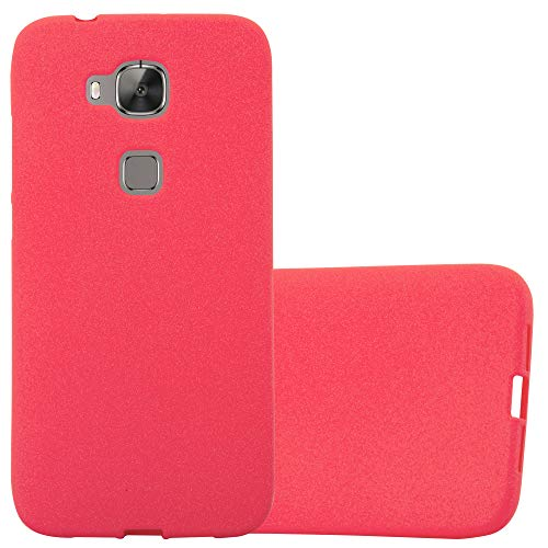 Cadorabo Hülle für Huawei G7 Plus / G8 / GX8 - Hülle in Frost ROT - Handyhülle aus TPU Silikon im matten Frosted Design - Silikonhülle Schutzhülle Ultra Slim Soft Back Cover Case Bumper
