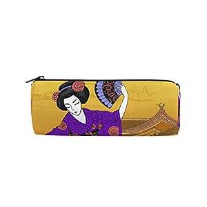 Linomo – Estuche étnico para lápices, diseño de mujer japonesa