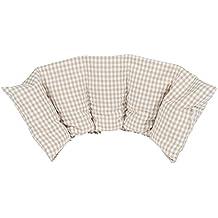 Almohada Termica 50x20 cm - Hecho en Alemania - Relleno: 800 Gramos de Huesos de Cereza. Forro: 100% Algodón - (Beige L)