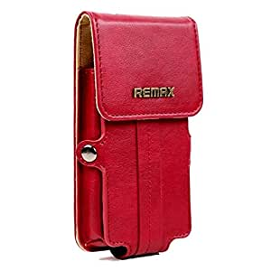 Brain Freezer Remax Pedestrian Series Leather Pouch Holster Case For Lg Volt Red