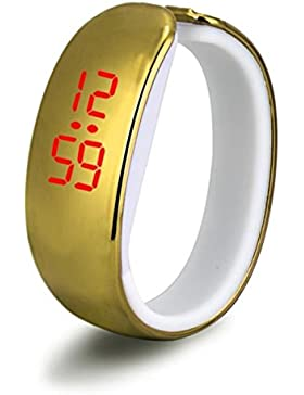 LHWY Damen Sport LED plating Armband Digital Armbanduhr (Golden)