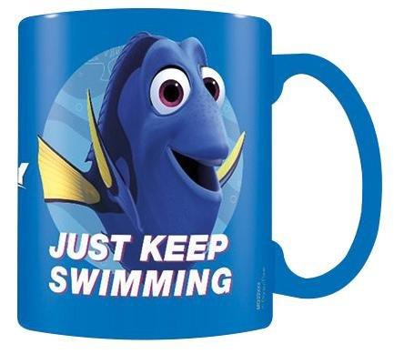 """Finding Dory """"Basta tenere Nuoto Blu Tazza Di Ceramica, Multicolore"""