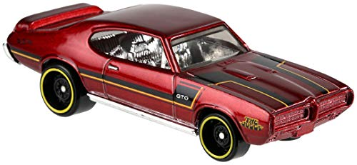 Hot Wheels GDG44-11 Pontiac GTO dunkelrot 1969 Maßstab 1:64 (Hot Gto Wheels)
