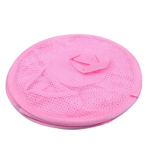 genden Regal, mehrschichtige Trockengestell Faltbare hängen Mesh Spielzeug Ablagekorb Unterwäsche Socken Veranstalter Käfig(Rosa) ()
