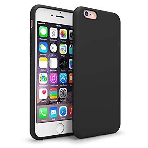 iPhone 6s Case,Splaks [Black] Shock-Absorb Case Cover with Camera Protection, Lightweight Soft Flexible TPU Rubber Anti-Scratch Protective Case For iPhone 6/6S