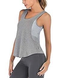 BaZhaHei Gilet Yoga Fitness Donna Senza Maniche T-Shirt Vest Tank Tops Sports,Moda Casual Canotte e Top Primavera Estate Bluse e Camicie - Donna Completi Sportivi