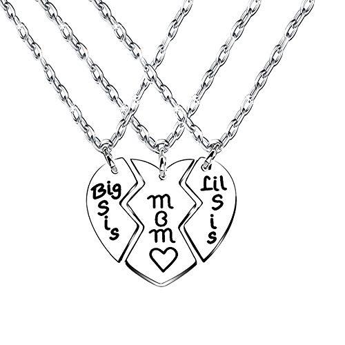 Halskette mit Herz-Anhänger für Mutter/Tochter/Mutter/Tochter, 3 Stück - Stück 3 Mutter-töchter-halskette,