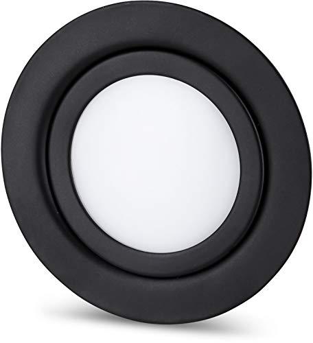 LED Slim Muebles Foco Metal IP4412V-mate negro-compatible en rasante de Ø 60mm-Blanco...