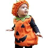 YASSON Baby Kinder Kürbis Kostüm mit Mütze Weihnachten Halloween Fasching Kostüm Geburtstag Geschenke