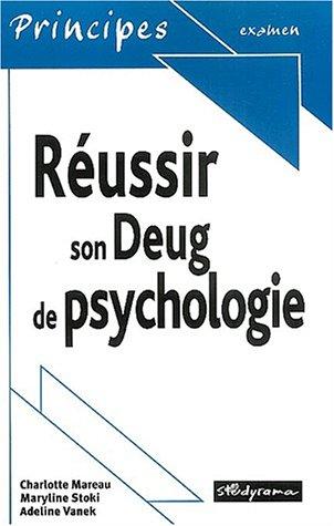 Réussir son Deug de psychologie par Charlotte Mareau