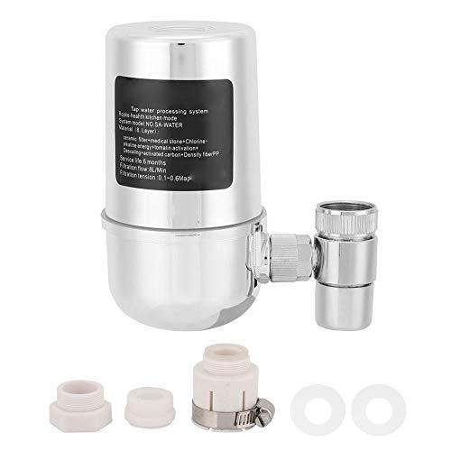 Keramischer Klimahahn-Wasserfilter, Leitungswasser-Reinigungssystem mit 15 Stadien Haushalts-Küchenleitungs-Wasserreinigungsgerät für hartes Wasser entfernt Chlor und schädliche Substanzen -
