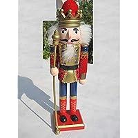 30,48 cm hecho a mano cascanueces, soldado cascanueces, rey cascanueces, opción threee, 1X