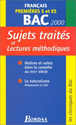 Français, 1ères S et ES
