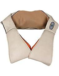 G&M Massager del hombro Shiatsu Masaje de amasamiento Calefacción Alivio y relajante (Beige)