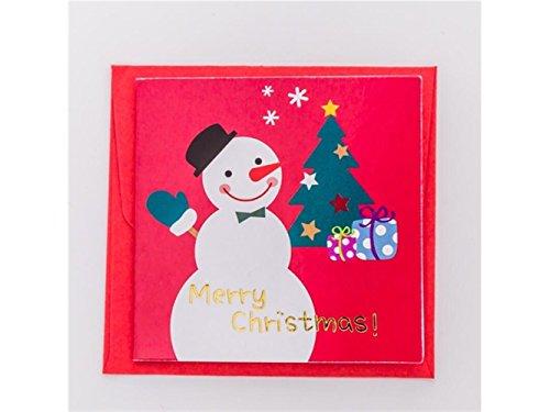 (Yyanliii Mehrere 4 Stück Weihnachten Grußkarten mit Umschlägen Einladungskarten Geschenkkarten (zufällige Art))