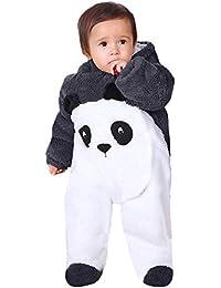 SUCES Neugeborenen Overall, Mädchen Jungen Einfarbig Cartoon Samt Kapuze Strampler Warmer Outdoor Kinder Outfits Niedlich Weich Winter Mantel