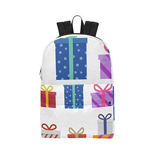 Box präsentiert Klassische niedliche Wasserdichte Laptop-Daypack-Taschen Schule College Rucksäcke Rucksäcke Bookbag für Kinder, Frauen Männer Reisen mit Reißverschluss Innentasche