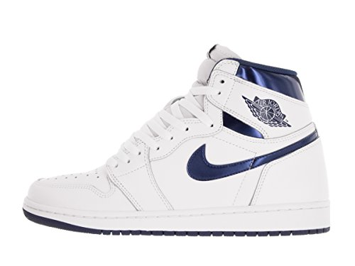 Nike Air Jordan 1 Retro High Og, Scarpe da Basket Uomo Bianco (Blanco (White / Midnight Navy))